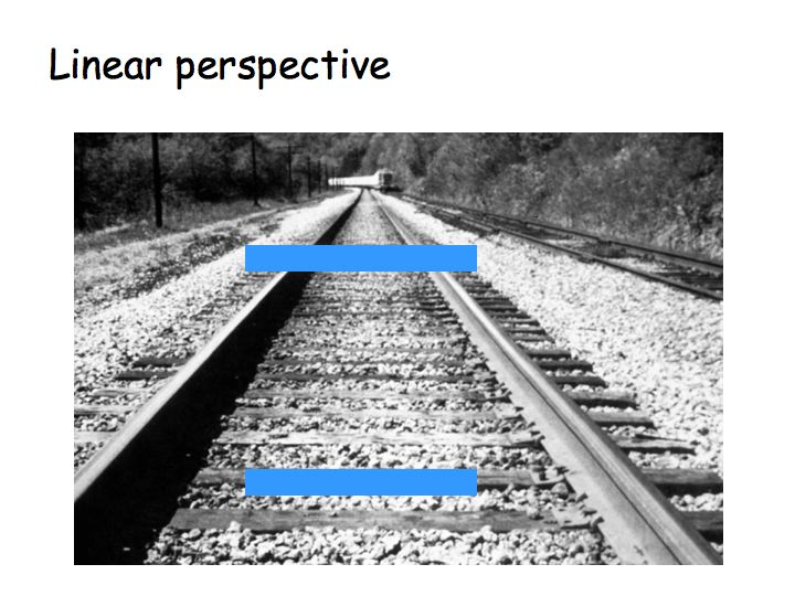Linear Perspective Psychology Example Linear perspective is another