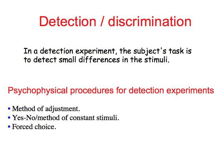method of limits in psychophysics